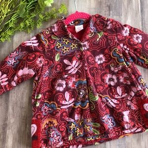 Oilily Red Floral Dress, 9 Months